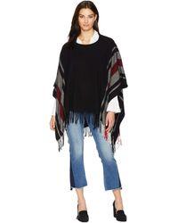 Lauren by Ralph Lauren - Edge Stripe Poncho (light Grey/ivory/oatmeal) Women's Clothing - Lyst