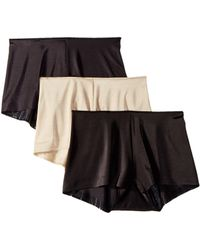 Miraclesuit - Tc Intimates By Miraclesuit Microfiber Boyshorts 3-pack (black/black/nude) Women's Underwear - Lyst