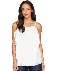 Calvin Klein - Skinny Stripe W/ Ruffle Blouse (soft White) Women's Blouse - Lyst