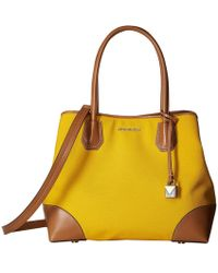 b14103aa1159 MICHAEL Michael Kors - Mercer Gallery Medium Center Zip Tote (jasmine  Yellow) Tote Handbags