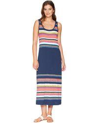 Tommy Bahama - Festival Stripe Midi Dress (ocean Deep) Women's Dress - Lyst