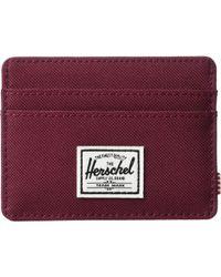 Herschel Supply Co. - Charlie Rfid (black Crosshatch) Wallet Handbags - Lyst