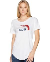 The North Face - Americana Track Tee (tnf White Heather) Women's T Shirt - Lyst
