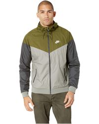 d08f4a7371 Nike - Sportwear Windrunner Jacket (olive Canvas dark Stucco white) Men s  Coat