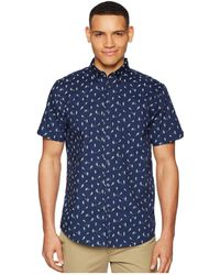 Ben Sherman - Short Sleeve Bird Print Shirt - Lyst