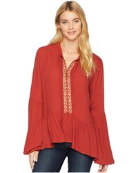 Stetson - 2084 Rayon Crepe Peasant (orange) Women's Clothing - Lyst