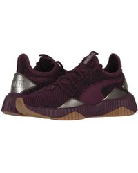 c5fa6d4c223 PUMA - Defy Luxe (fig metallic Ash) Women s Lace Up Casual Shoes -