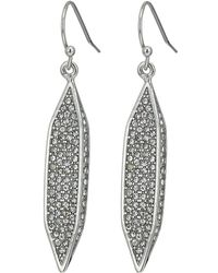 Vince Camuto - Hidden Details Pave Linear Drop Earrings - Lyst