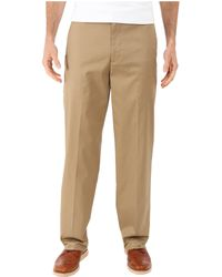 Dockers - Iron Free Khaki D3 Classic Fit Flat Front (black Metal) Men's Casual Pants - Lyst