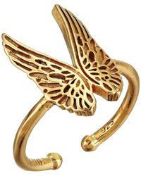 ALEX AND ANI - Guardian Angel Statement Adjustable Ring - Precious Metal (14kt Gold Plated) Ring - Lyst