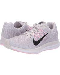 d9e0daefabb Lyst - Nike Air Zoom Winflo 4 (atmosphere Grey gunsmoke arctic Pink ...