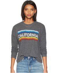 The Original Retro Brand - California Super Soft Haaci Pullover (black Haaci) Women's Clothing - Lyst