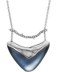 Alexis Bittar - Crystal Bar Shield Pendant Necklace (ocean) Necklace - Lyst
