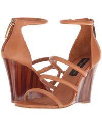 Donna Karan - Rachel Multi Strap (cognac) Women's Dress Sandals - Lyst