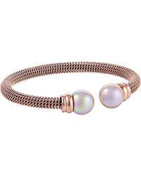 Majorica - Steel Bangle Bracelet (gold/white) Bracelet - Lyst