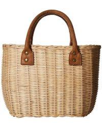 Hat Attack - Wicker Small Basket - Lyst