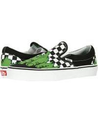 2072e9e550 Lyst - Vans Unisex Classic Slip-on (sayings) Skate Shoe in White for Men