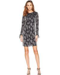 MICHAEL Michael Kors - Drawstring Sleeve Dress (black/silver) Women's Dress - Lyst