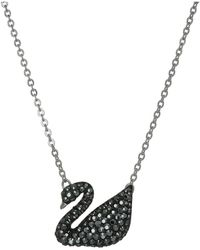 Swarovski - Iconic Swan Pendant Necklace (black/teal) Necklace - Lyst