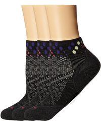 Smartwool - Phd Run Elite Low Cut Pattern 3-pack (black) Women's Low Cut Socks Shoes - Lyst
