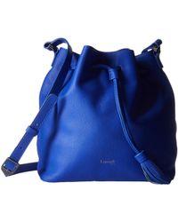 Lipault - Plume Elegance Leather Bucket Medium Bag (exotic Blue) Bags - Lyst