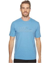 Travis Mathew - Life Champion (heather Blue) Men's T Shirt - Lyst