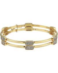 Vince Camuto - Bangle Bracelet Set Of Two (gold/crystal) Bracelet - Lyst