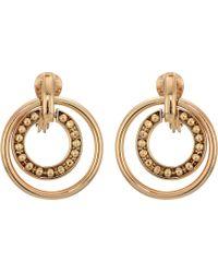 Lauren by Ralph Lauren - Clip Orbital Hoop Earrings (gold) Earring - Lyst