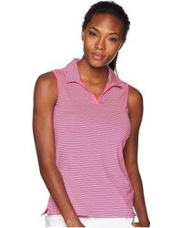 adidas Originals - Ultimate 365 Stripe Sleeveless Polo (mystery Green) Women's Clothing - Lyst