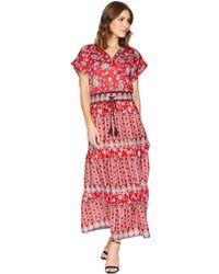 Lauren by Ralph Lauren - Silky Cotton Sateen Short Sleeve V-neck Dress - Lyst