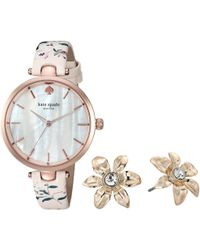 Kate Spade - Holland Watch And Earring Set - Ksw1422b - Lyst