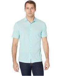 Bugatchi - Julian Short Sleeve Button-up Shirt (graphite) Men's Short Sleeve Button Up - Lyst