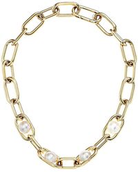 Michael Kors - Pearl Link Collar Necklace (gold) Necklace - Lyst