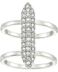 Vince Camuto - Pave Bar Ring (rhodium/crystal) Ring - Lyst