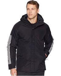 8e080467173 adidas Originals - Xploric 3-stripe (black) Men s Coat - Lyst