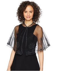 Betsey Johnson - Beaded Floral Capelet (black) Women's Clothing - Lyst