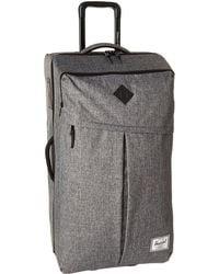 Herschel Supply Co. - Parcel Xl Luggage, Raven Crosshatch/black Pebbled Leather - Lyst