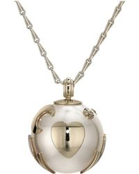 Tory Burch - Surreal Pearl Charm Necklace (pearl/gold) Necklace - Lyst