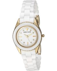 Anne Klein - Ak-3164wtgb (gold-tone/white) Watches - Lyst