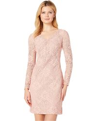 Lauren by Ralph Lauren - 155h Aura Floral Lace Lontie Long Sleeve Day Dress (peche Blossom 2) Women's Dress - Lyst