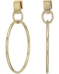 Vince Camuto - Frontal Drop Hoop Earrings (gold) Earring - Lyst
