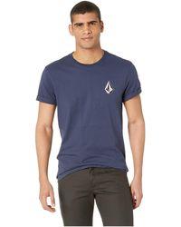 Volcom - Deadly Stone Short Sleeve Tee (navy) Men's T Shirt - Lyst