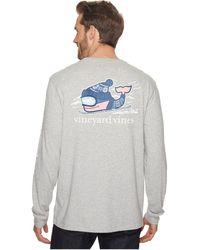 Vineyard Vines - Long Sleeve Downhill Ski Whale Pocket Tee - Lyst