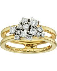 Miseno - Vesuvio 18k Gold Ring With Diamonds - Lyst