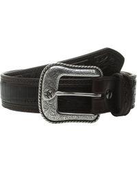Ariat - Croco Floral Embossed Tab Belt (brown) Men's Belts - Lyst