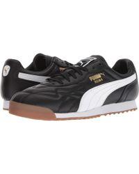 2fe151c296a PUMA - Roma Anniversario ( Black  White) Men s Lace Up Casual Shoes - Lyst