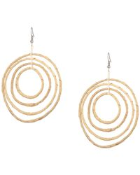 06d925df3 Kenneth Jay Lane - Light Wood 4 Graduated Circle Pierced Earrings (light  Wood) Earring