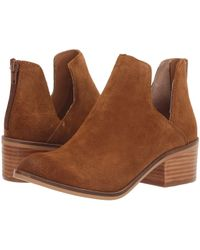 Steve Madden - Lancaster Bootie (grey Suede) Women's Slip On Shoes - Lyst