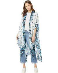 Michael Stars - Rose Anise Floral Print Ruana (poseidon Multi) Women's Clothing - Lyst