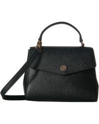Tory Burch - Robinson Small Top-handle Satchel (gray Heron) Satchel Handbags - Lyst